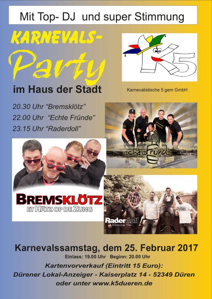 Karnevalsparty 25.02.2017